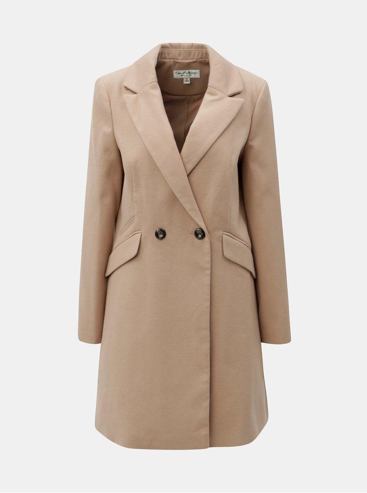 Béžový dlhý kabát Miss Selfridge
