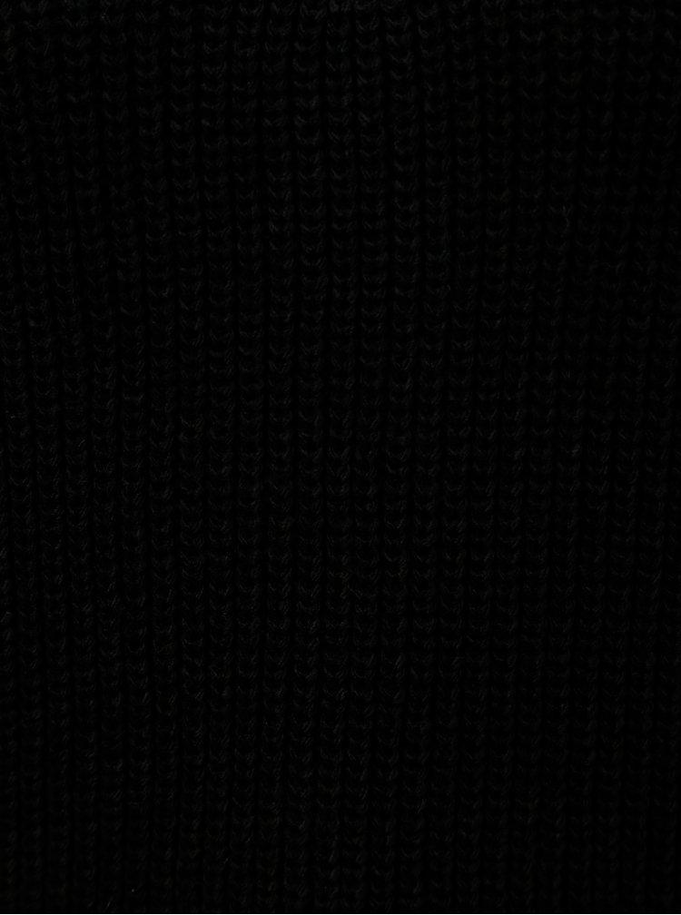 Pulover scurt negru cu siret din dantela Miss Selfridge