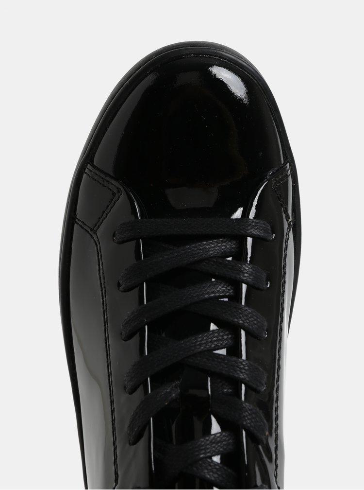 Čierne dámske kožené lesklé tenisky Vagabond Zoe