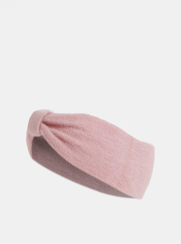 Bentita roz cu amestec de lana Pieces Josefine