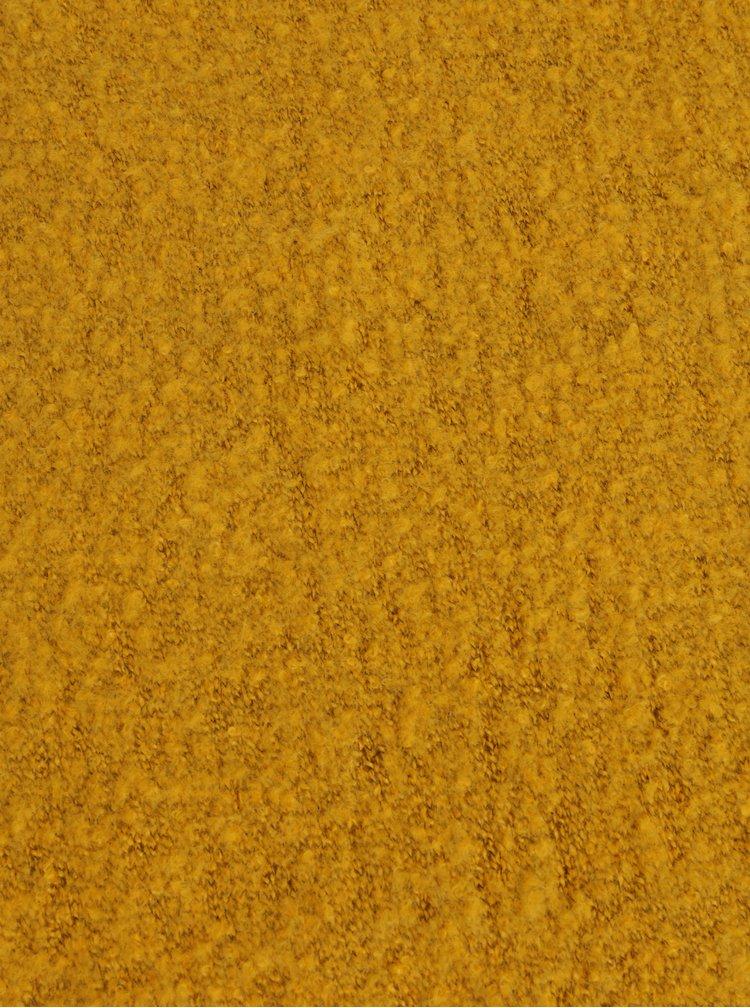 Horčicový melírovaný šál Pieces Pyron