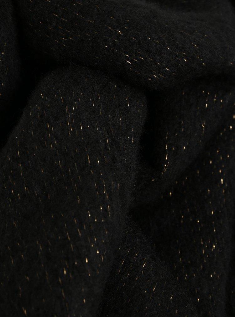 Černá šála s metalickým vláknem VERO MODA Glittery