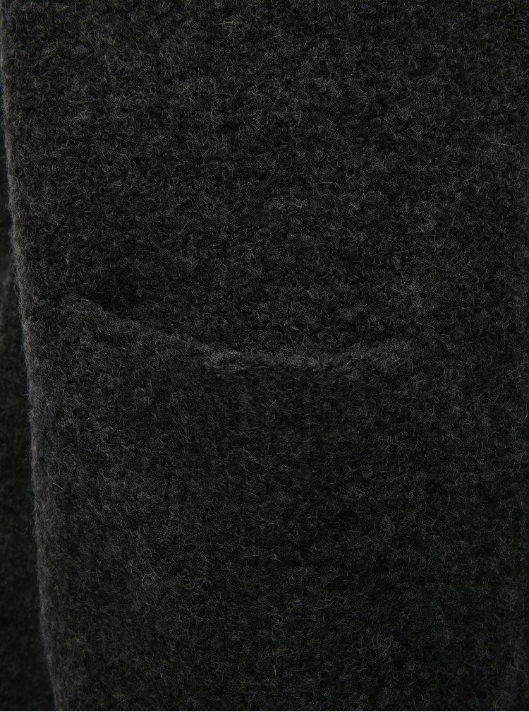 Tmavě šedý kardigan s příměsí vlny VILA Place
