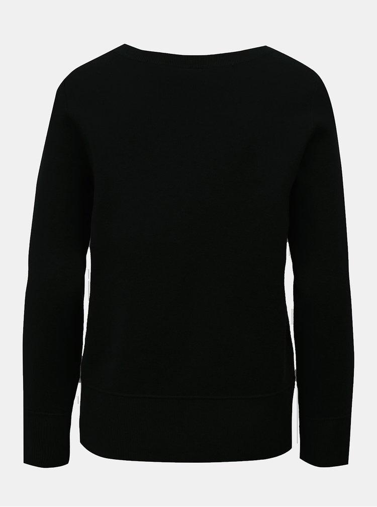 Čierny sveter s dlhým rukávom VILA Livina