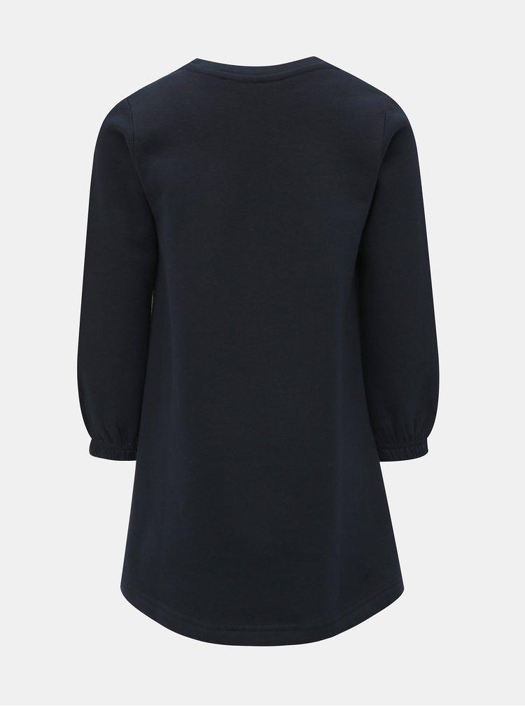 Tmavě modré mikinové šaty s potiskem Blue Seven