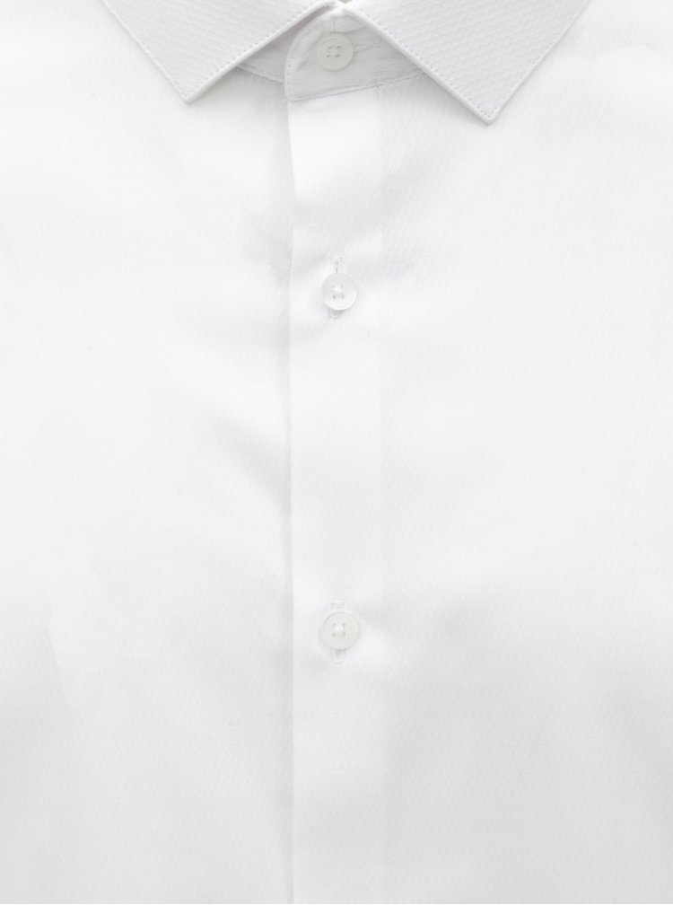 Bílá skinny fit formální košile Burton Menswear London
