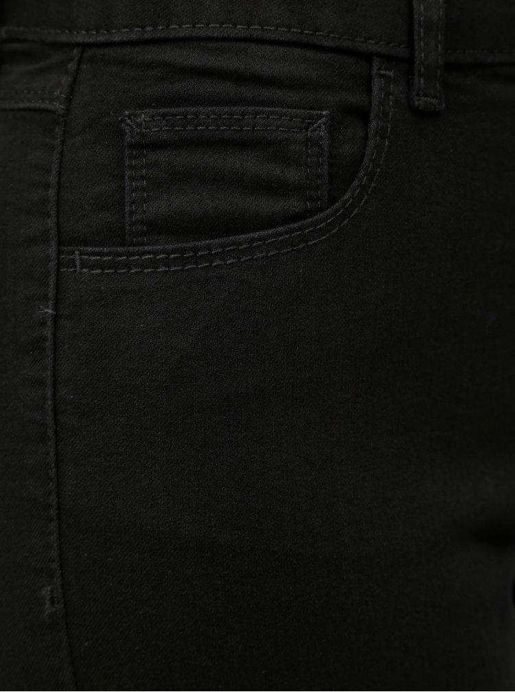 Černé straight džíny Dorothy Perkins Ashley