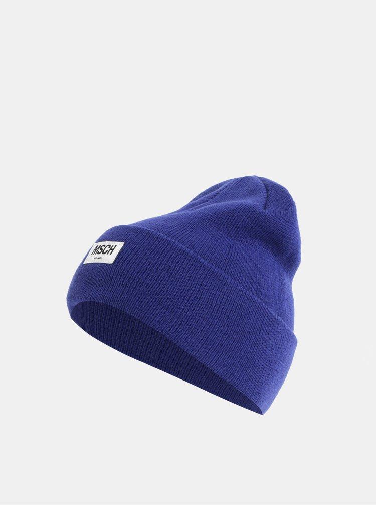 Modrá vlněná čepice Moss Copenhagen Mojo