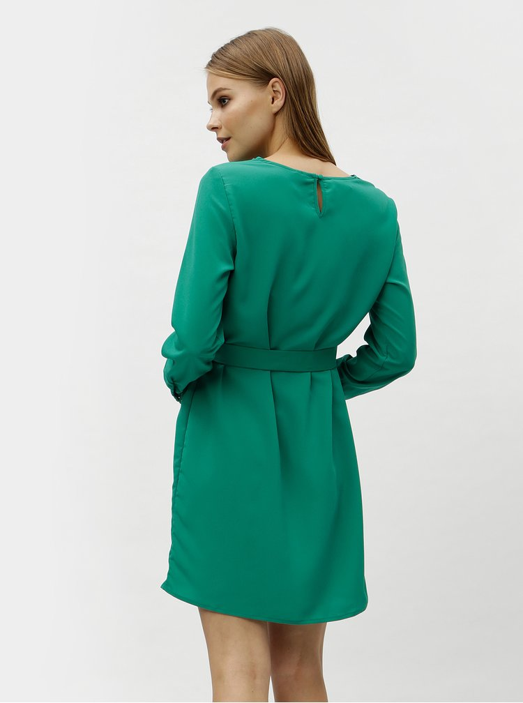 Zelené šaty s dlouhým rukávem VERO MODA June