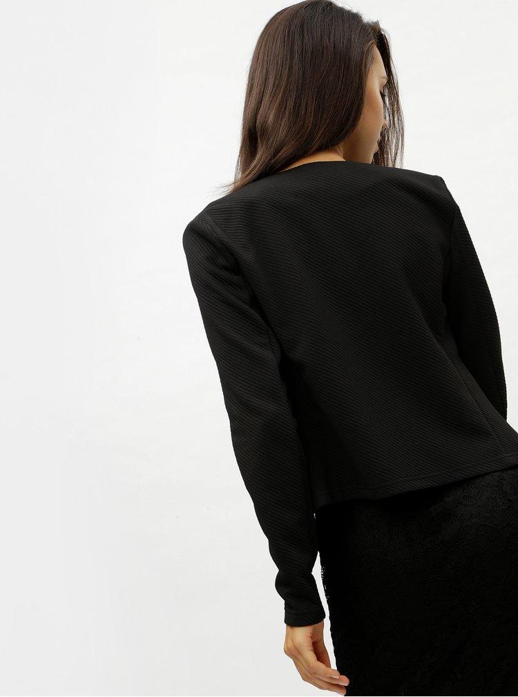 Sacou negru cu striatii VERO MODA Vilde