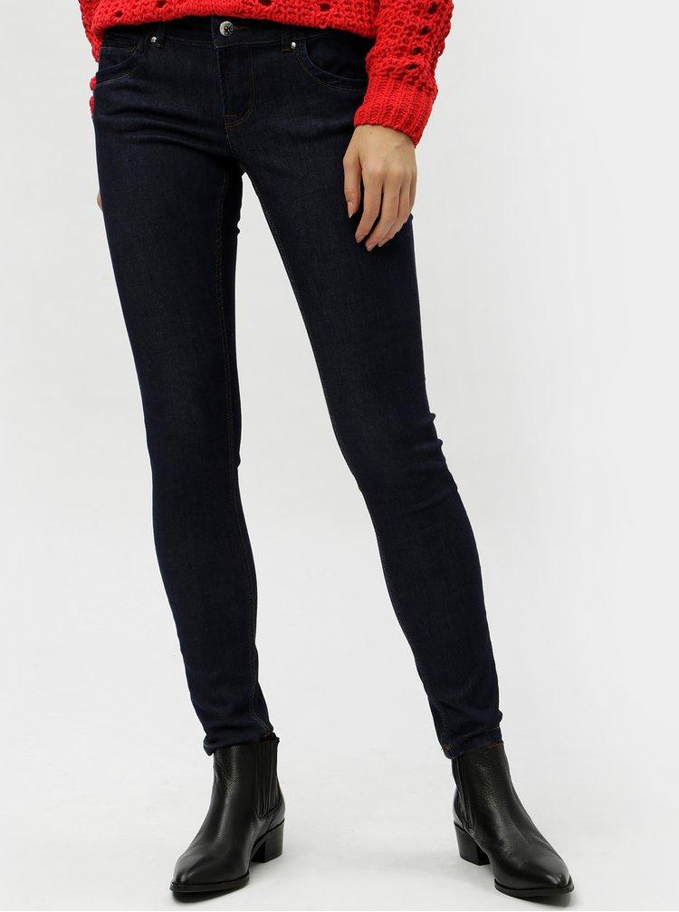 Tmavě modré slim fit džíny s nízkým pasem VERO MODA Hot