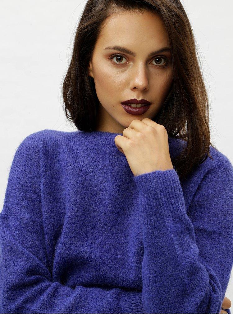 Pulover albastru oversized din lana Moss Copenhagen