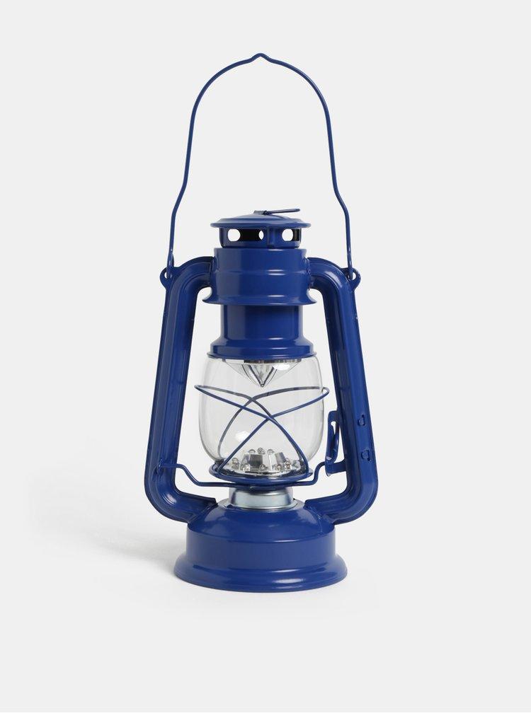 Felinar albastru inchis cu LED Kaemingk