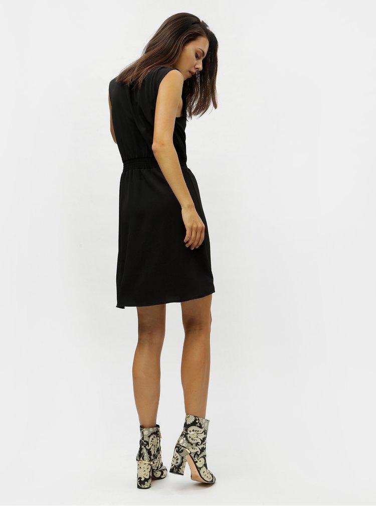 Černé šaty se stojáčkem VERO MODA Sofie