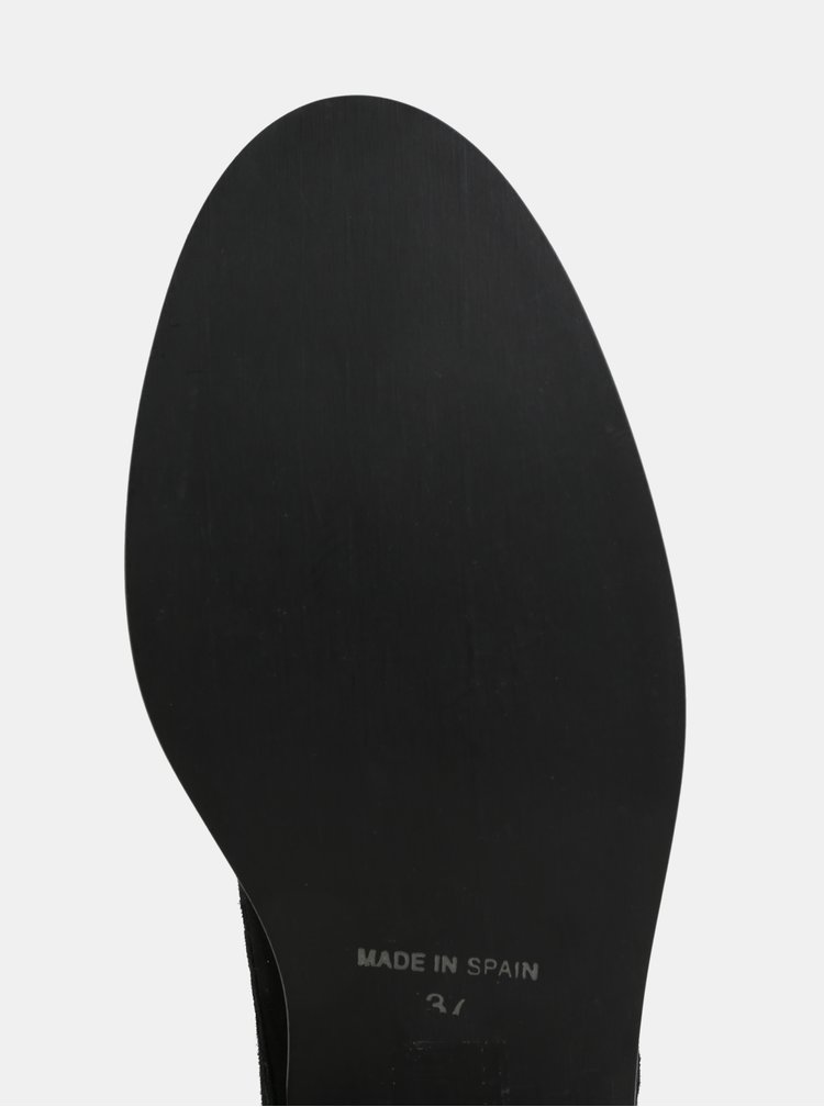 Černé semišové polobotky s lesklými detaily OJJU
