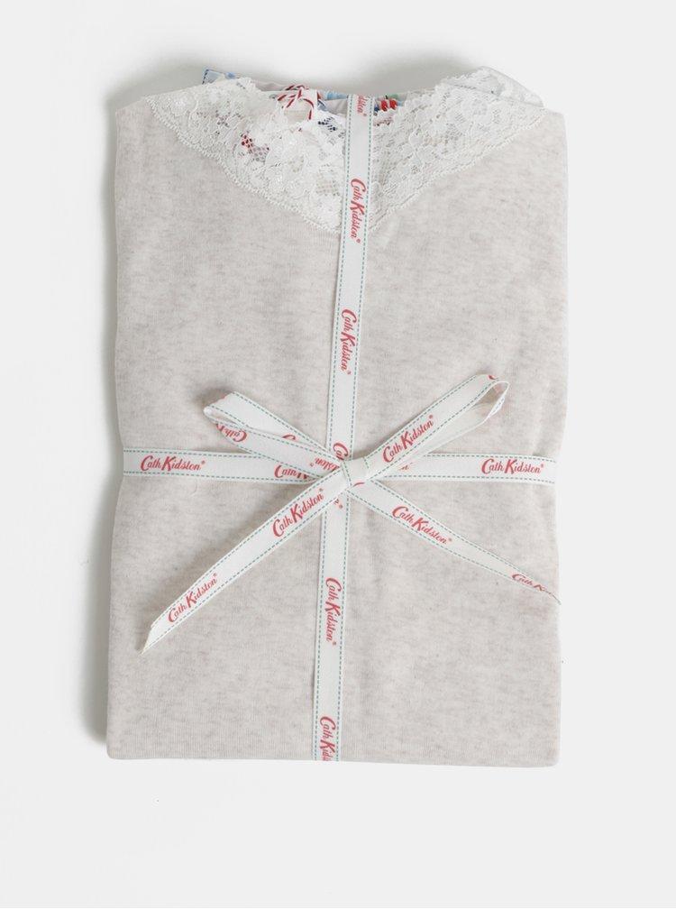 Světle šedé dámské dvoudílné pyžamo Cath Kidston