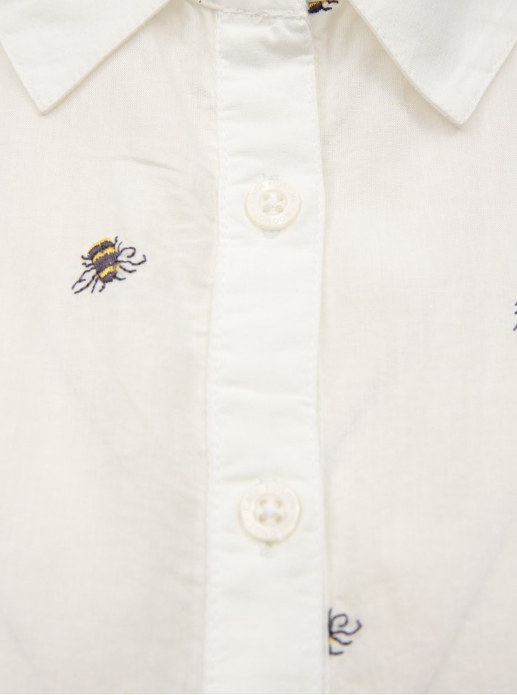 Bílá dámská košile s výšivkami včel Cath Kidston