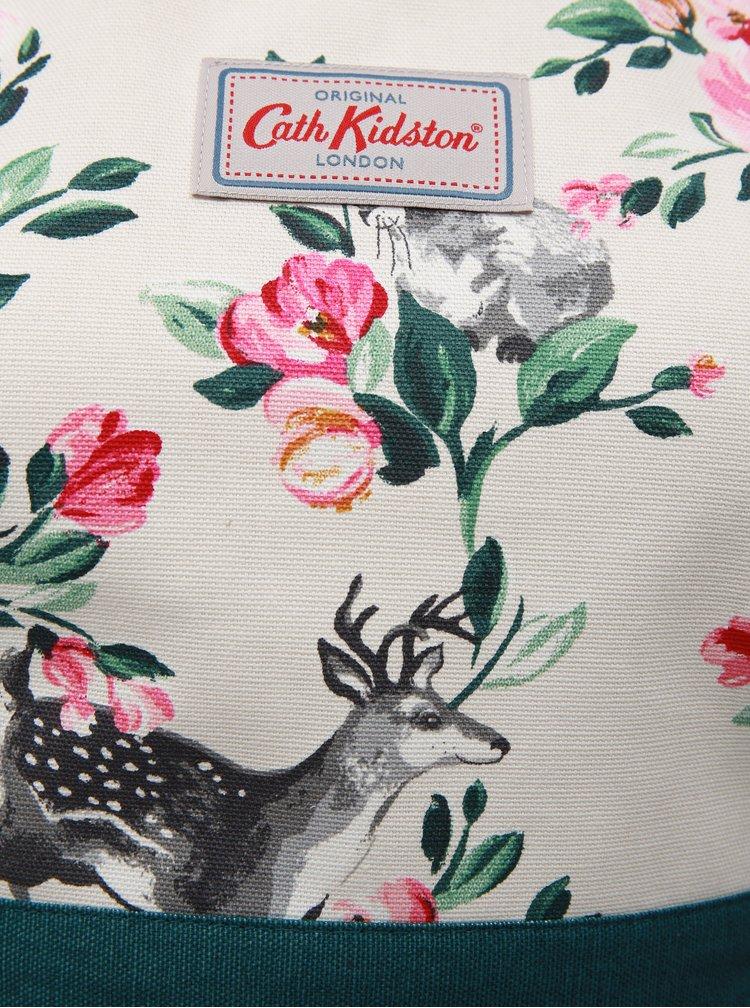 Zeleno-krémová zástěra s motivem lesních zvířat Cath Kidston