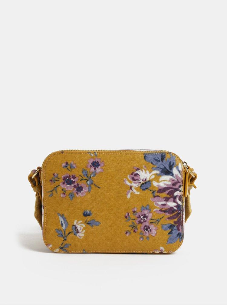 Hořčicová dámská květovaná kabelka Cath Kidston