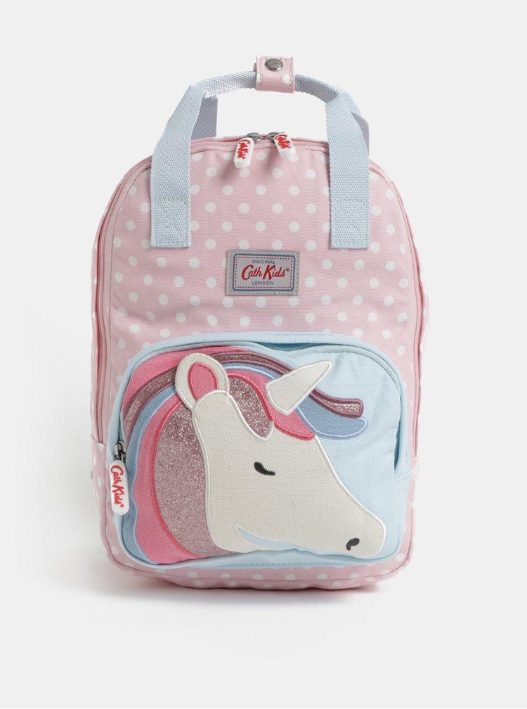Modro-růžový holčičí batoh s motivem jednorožce Cath Kidston