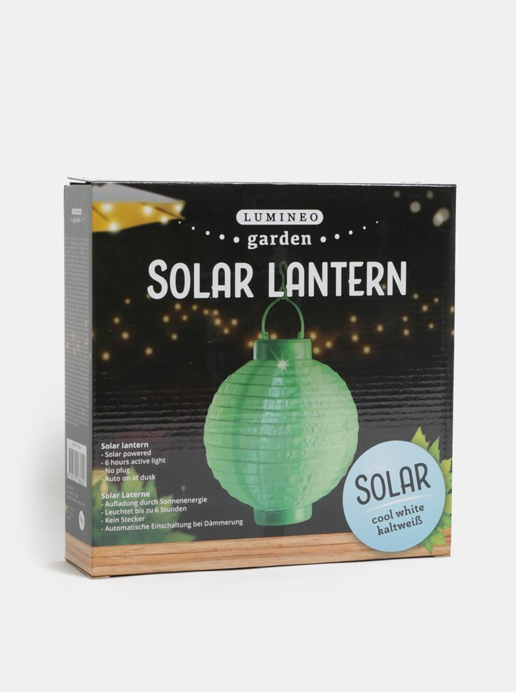 Zelený solární lampión Kaemingk