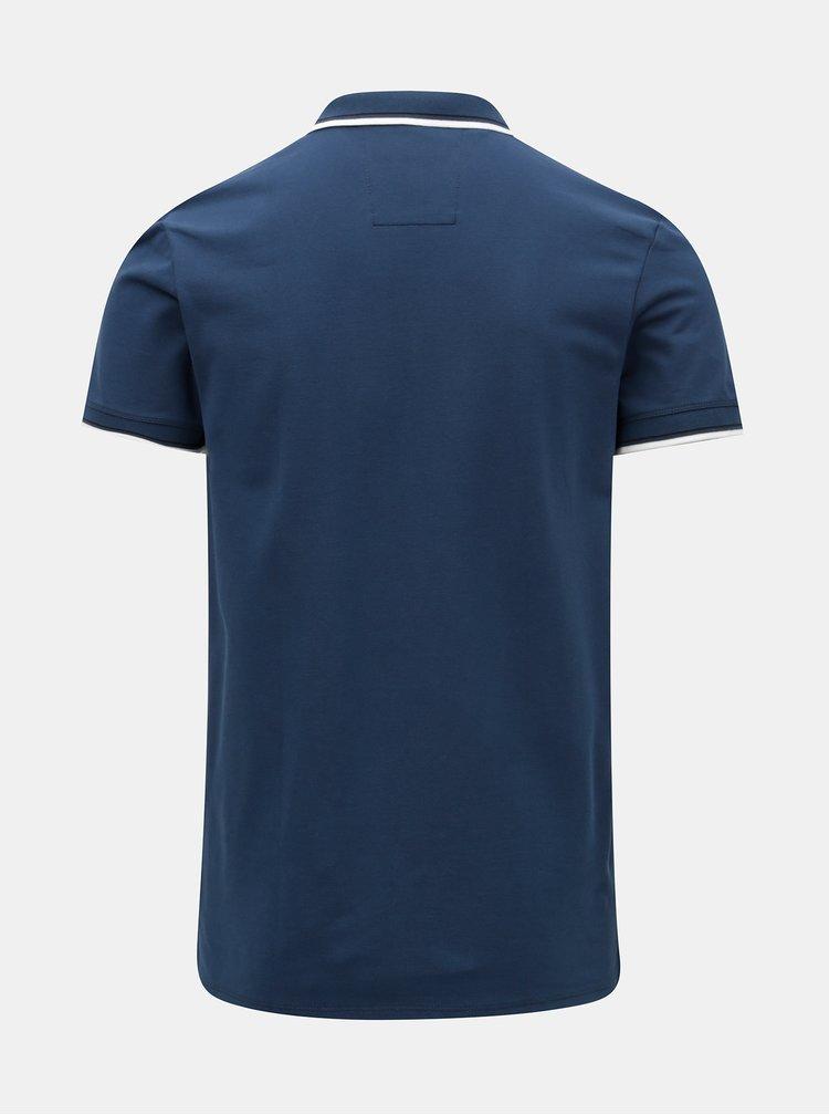 Petrolejové polo tričko s výšivkou Selected Homme New season