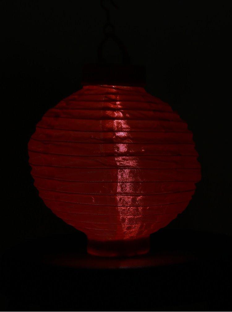Červený solárny lampión Kaemingk