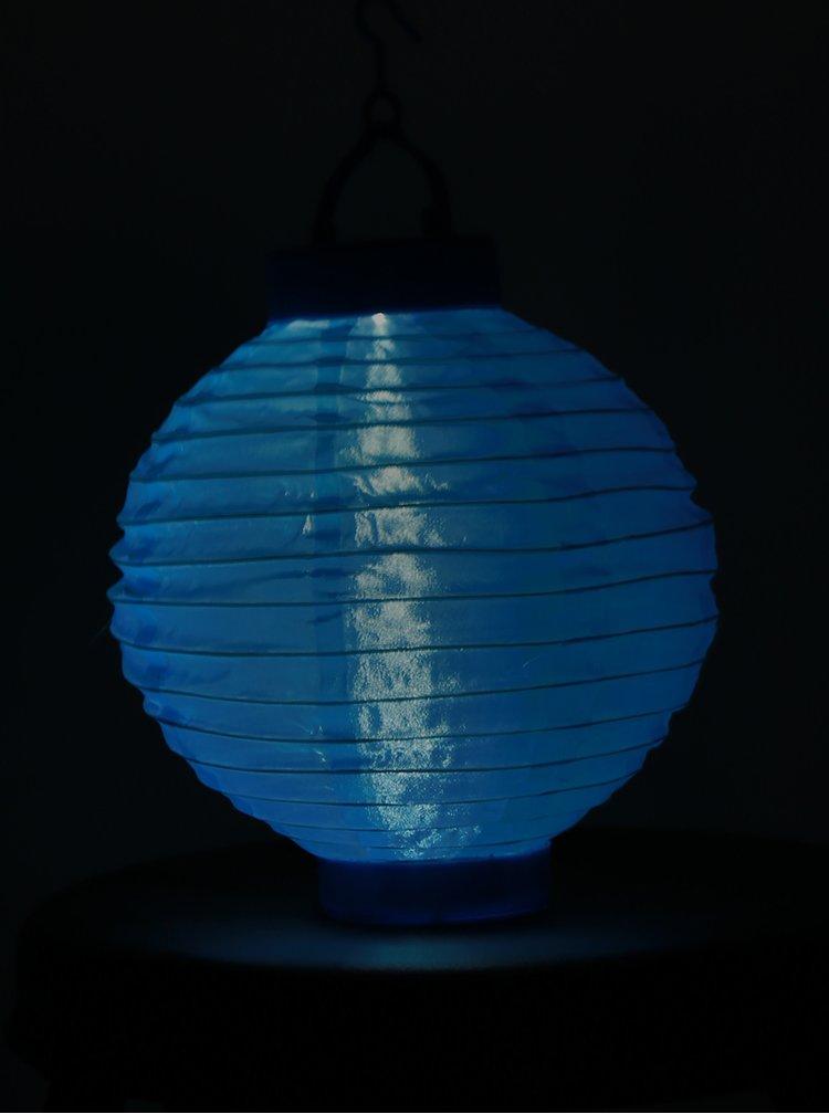 Modrý solární lampión Kaemingk