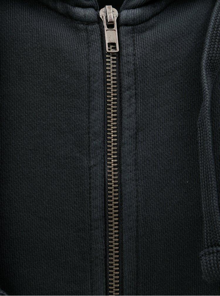 Tmavě modrá mikina na zip ONLY & SONS Jayce