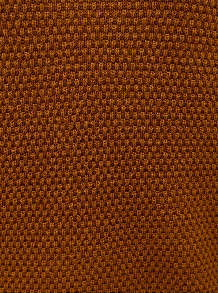 Hnědý strukturovaný svetr VILA Chassa