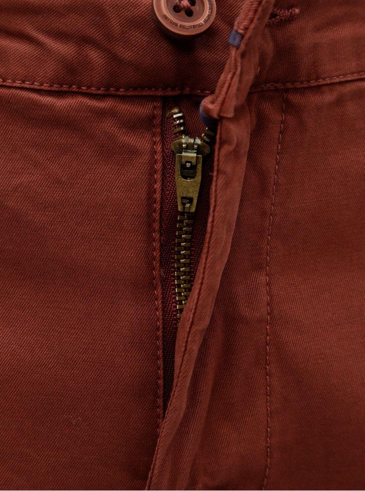Pantaloni barbatesti stretch chino maro Garcia Jeans