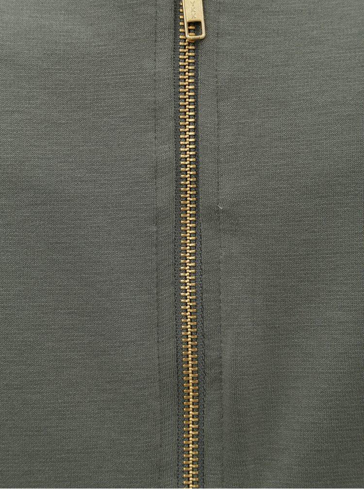 Khaki šaty s 3/4 rukávem VILA Tinny