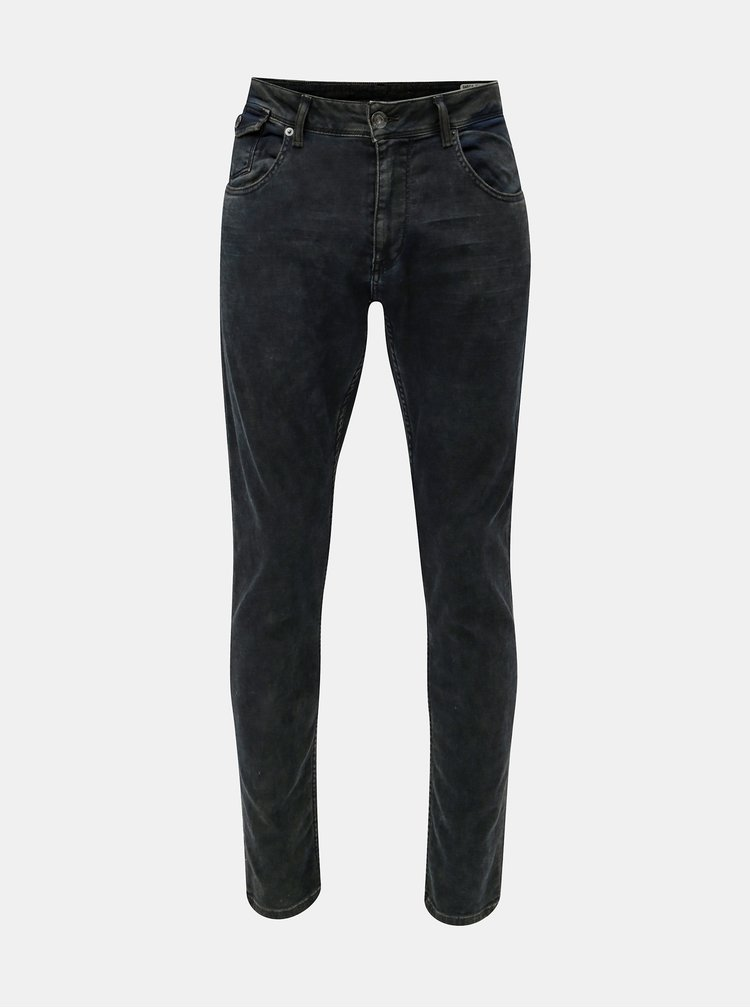 Tmavě modré pánské tapered fit džíny Garcia Jeans