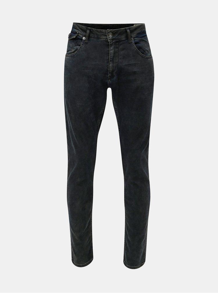 Tmavomodré pánske tapered fit rifle Garcia Jeans