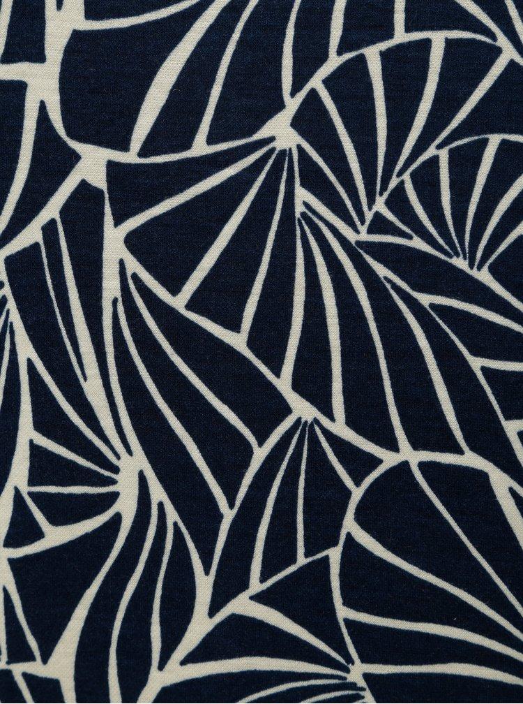 Rochie albastra cu model si maneci 3/4 VILA Tinny