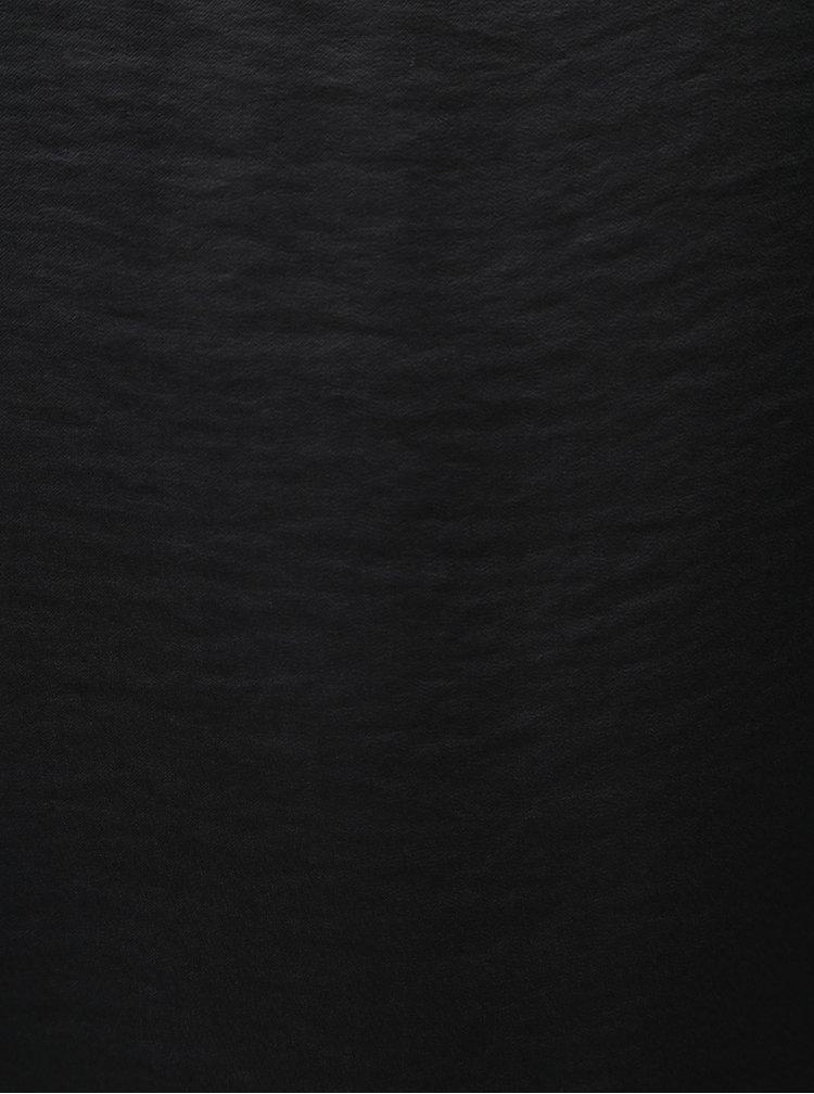 Tmavě šedá halenka s véčkovým výstřihem VILA Cava