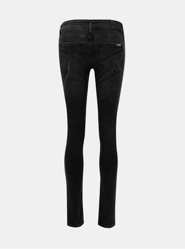 Černé dámské super slim fit džíny Garcia Jeans