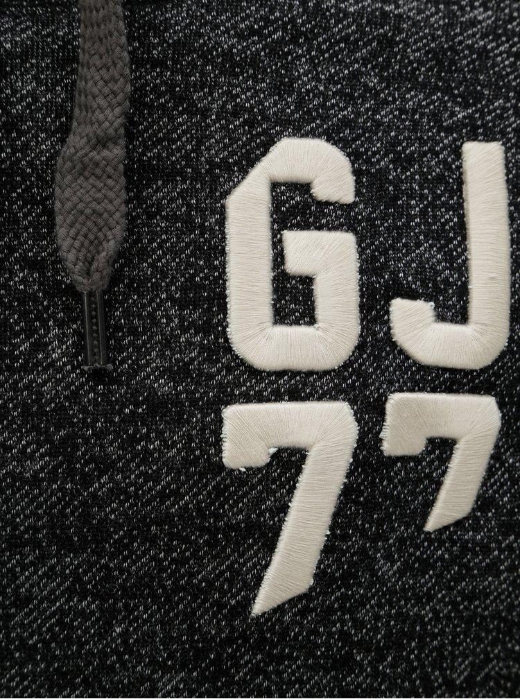 Černá pánská žíhaná mikina s kapucí Garcia Jeans