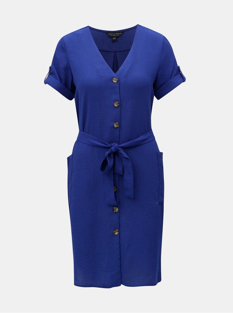 Modré košeľové šaty Dorothy Perkins