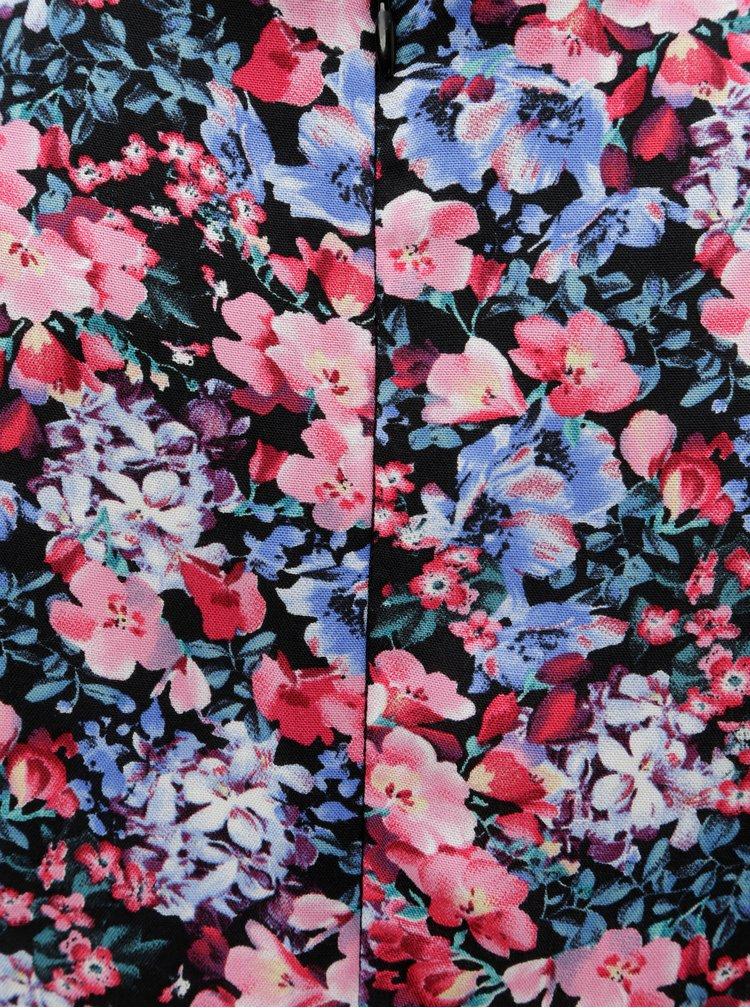Černo-růžové květované šaty Billie & Blossom