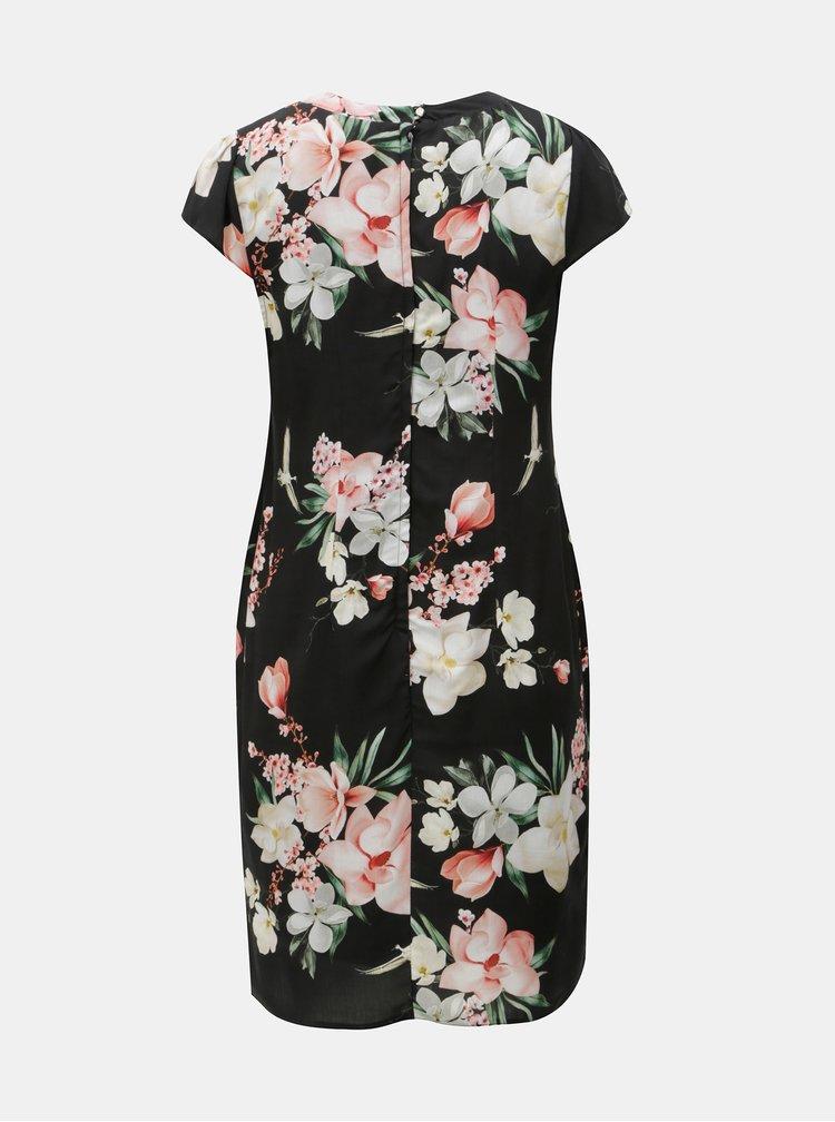 Rochie neagra florala Billie & Blossom