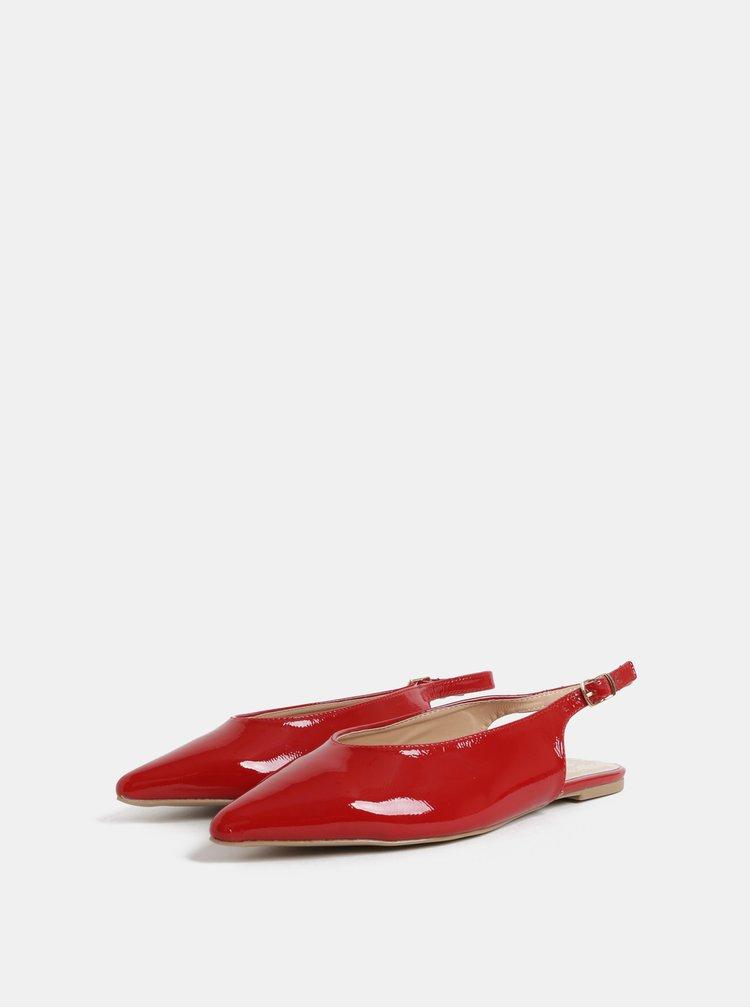 Červené lesklé baleríny s otevřenou patou Dorothy Perkins Phantom