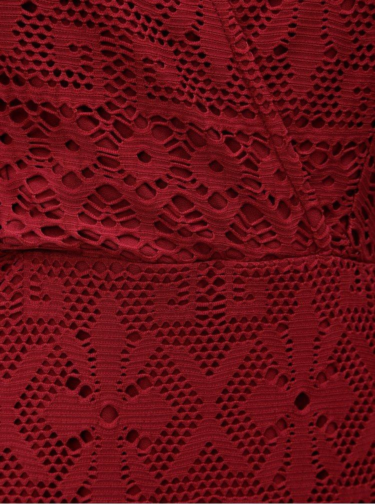 Červené krajkové šaty Dorothy Perkins