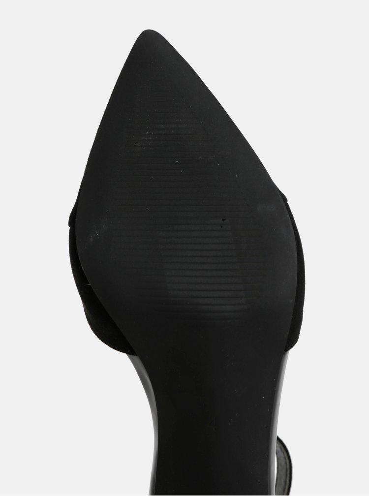 Černé lodičky v semišové úpravě Dorothy Perkins Georgia
