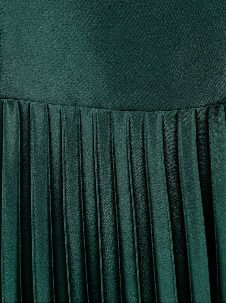 Rochie verde cu fusta plisata Dorothy Perkins