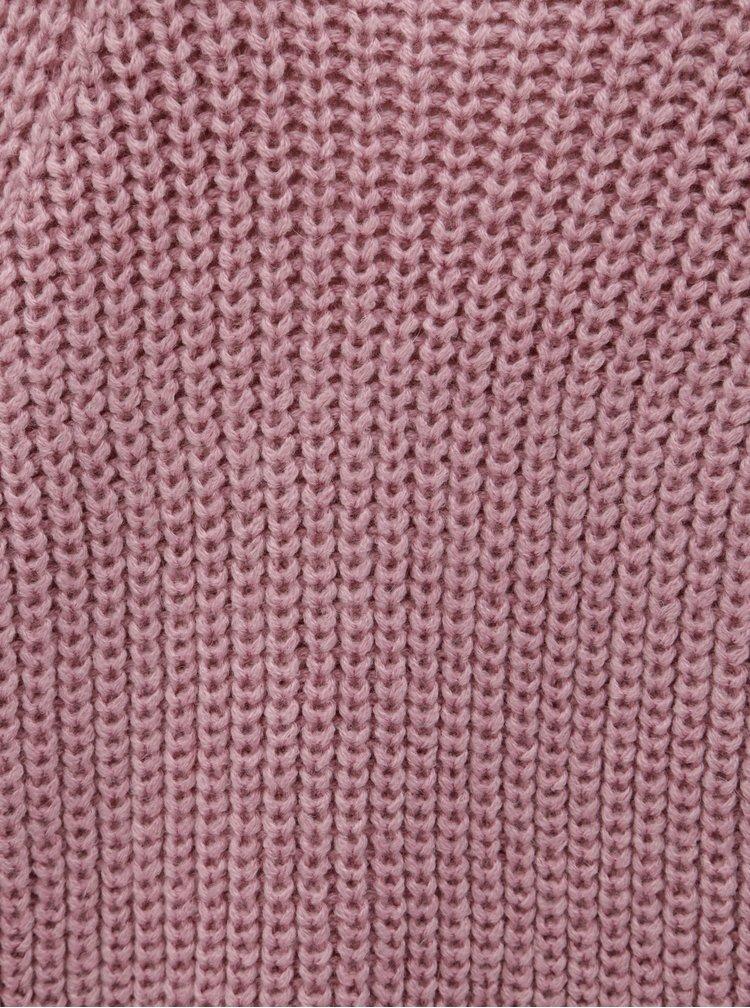 Starorůžový dlouhý svetr VERO MODA
