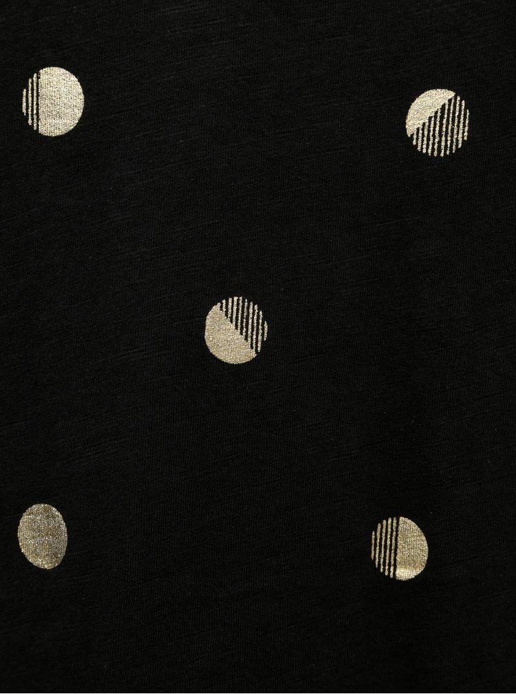 Černé dámské puntíkované tričko Garcia Jeans
