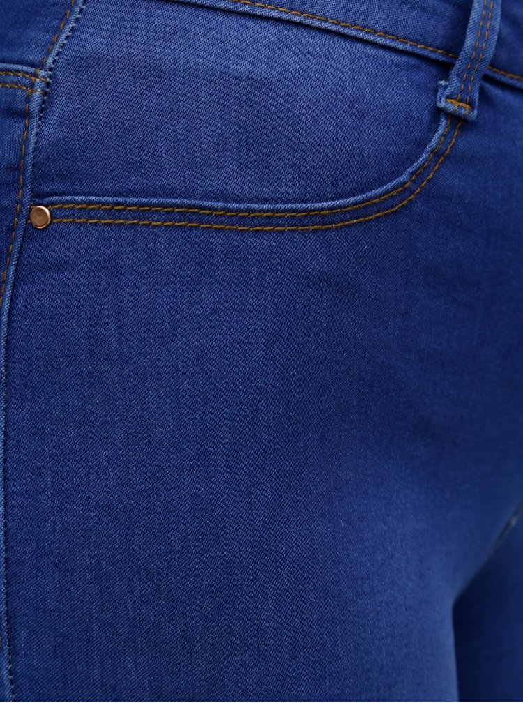 Blugi albastri super skinny din denim Dorothy Perkins Petite Frankie
