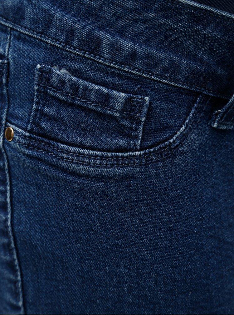 Modré těhotenské skinny džíny Dorothy Perkins Maternity Darcy