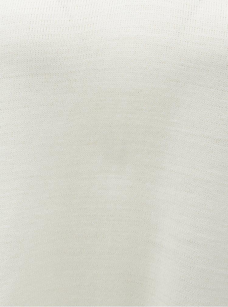 Krémový sveter s pruhmi na rukávoch Dorothy Perkins